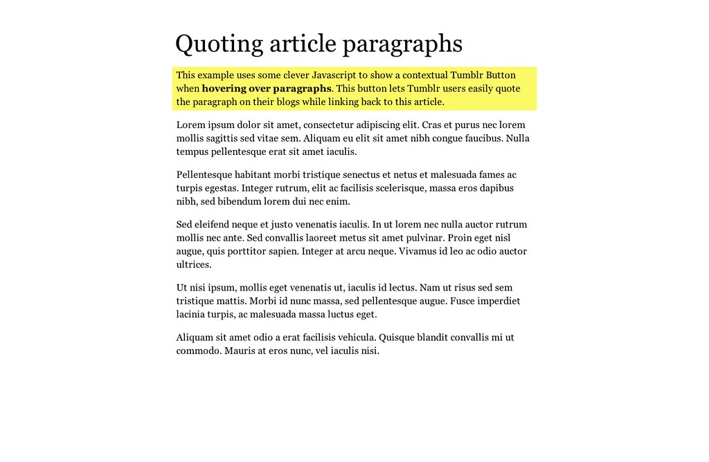article paragraph example