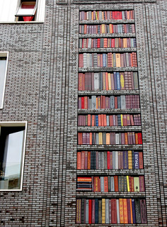 wall of books | by andrevanb