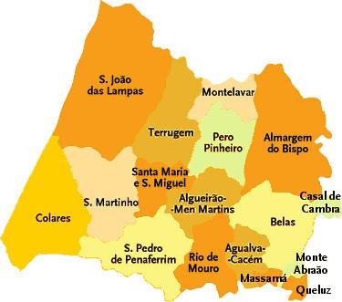 mapa das freguesias de sintra Concelho de Sintra | Mapa das freguesias | Jorge Bastos | Flickr mapa das freguesias de sintra