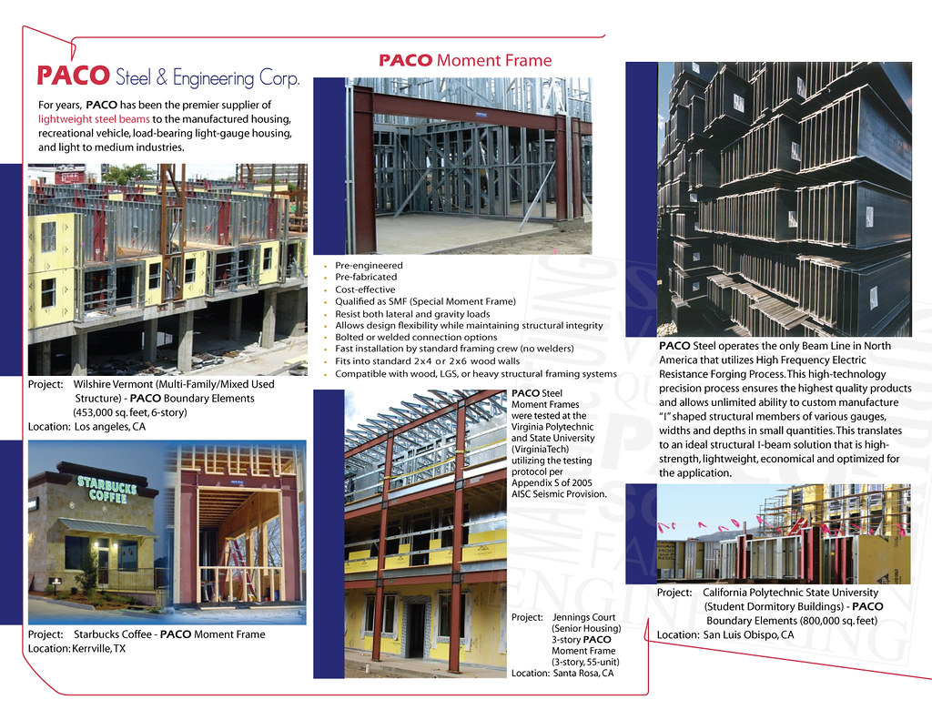 PACO Steel Moment Frame (brochure) | Check our website here:… | Flickr