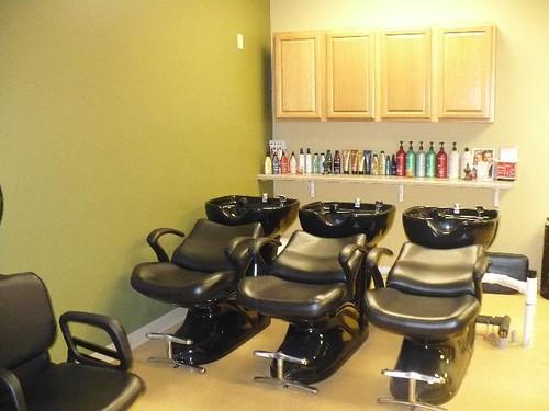 Beauty salon interior design hair salon backwash area flickr - Salon equipment international ...