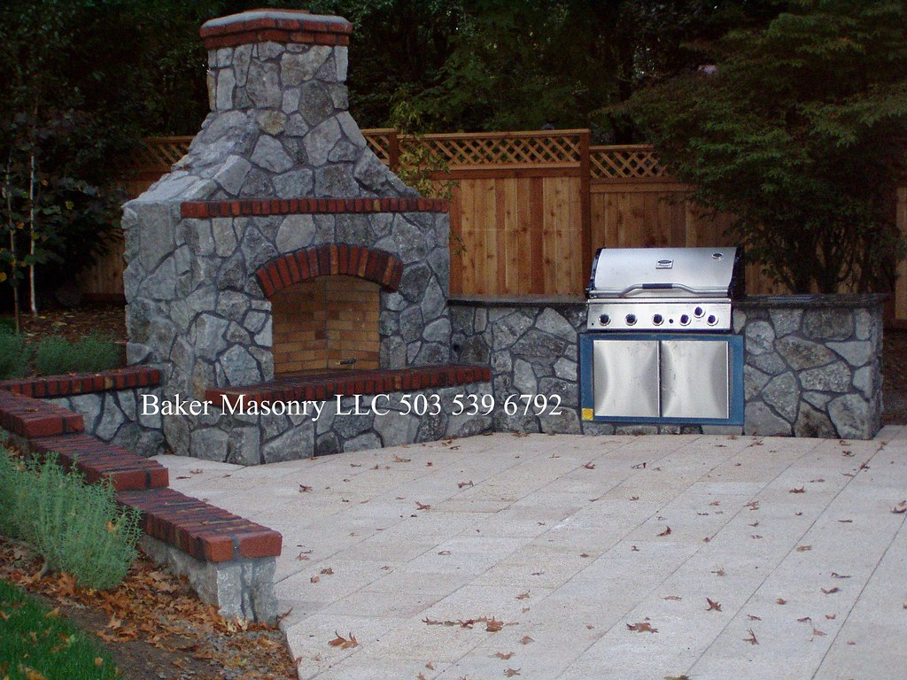 Stone Outdoor Fireplace Baker Masonry Llc 503 539 6792 Flickr
