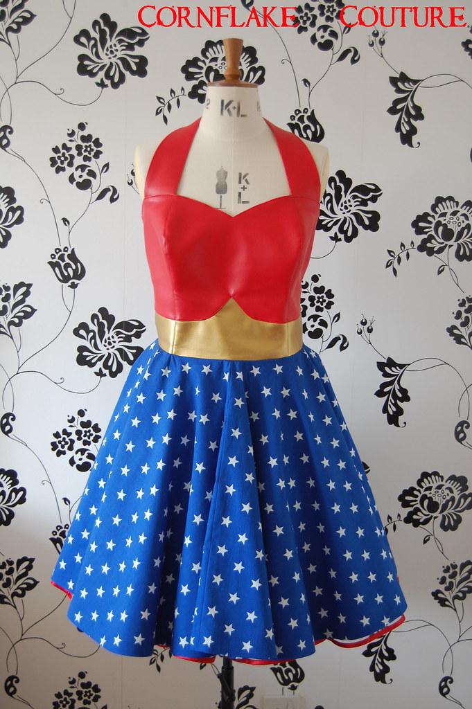 Wonder Woman Wonder Woman Inspired Dress Leatherette Bone Flickr Awesome Wonder Woman Skirt Pattern