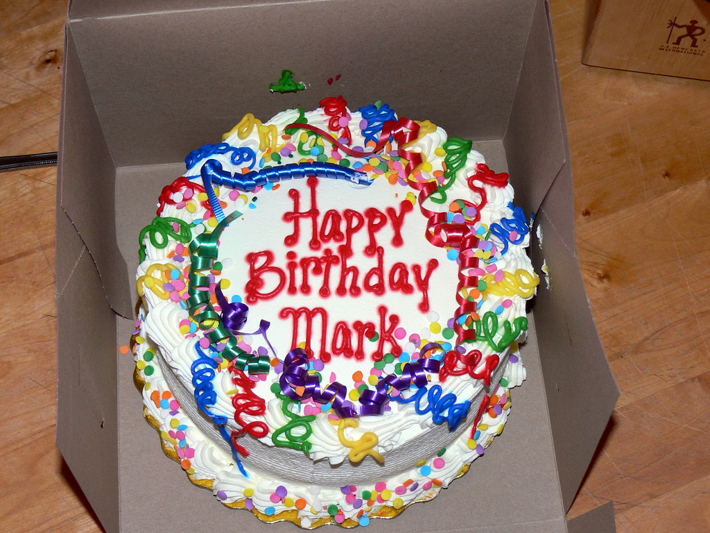 Birthday cake for mark from bonnie happy early birthday flickr birthday cake for mark by jessicafm publicscrutiny Gallery