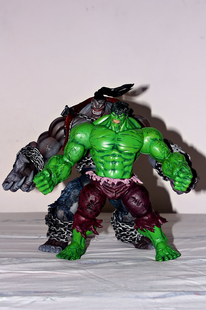 The Pitt and Marvel Select Hulk Size Comparison 2 | Height-w… | Flickr