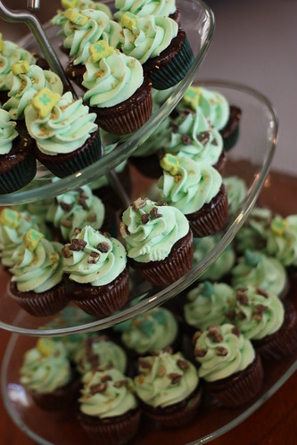 Sweet Little Mint Chip Brownie Cuppies with Ganache and Mint Buttercream | by Lisa Smiley Photography
