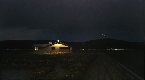 Two Lights Over Jupiter Mountain | by David Hines