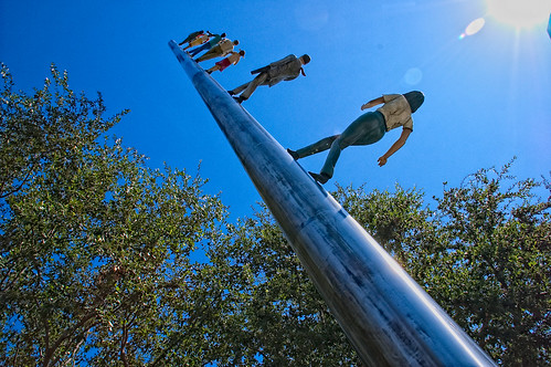 Walking to the Sky by Jonathan Borofsky - Nasher Sculpture Center, Dallas | by phigits