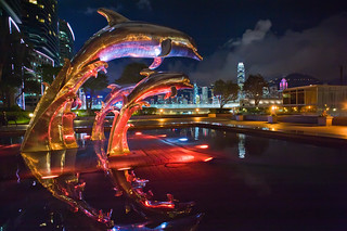 Dolphin Statue near Royal Pacific Hotel | by Chandrahadi Junarto