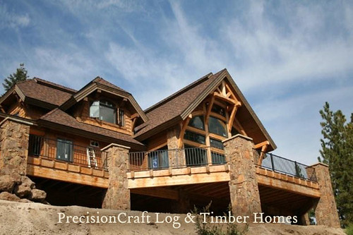 Timber frame home exterior your architect should first for Timber frame homes pictures