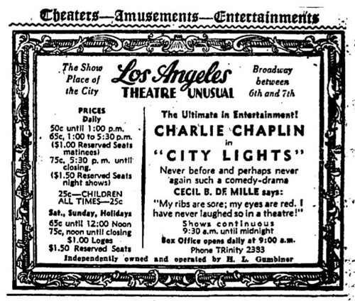 Los Angeles Theatre Ad | by Floyd B. Bariscale