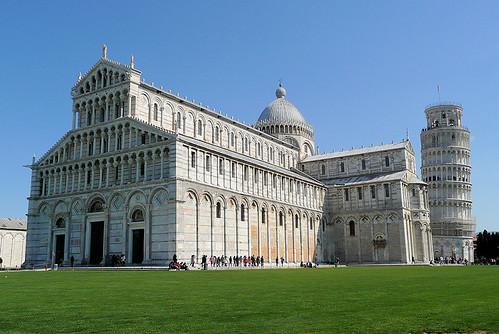 Architecture romane cath drale et campanile de pise for Architecture romane