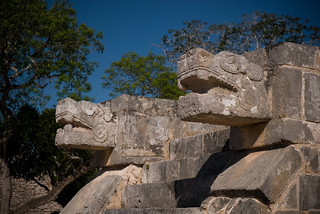 Chichen Itza Snakes | by aSeed