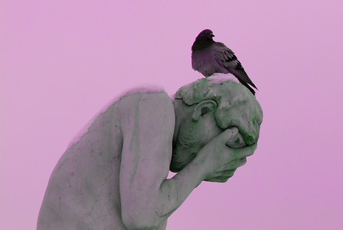 uuh !! i am fed up by these birds,,,, one of Statue in Jardin des Tuileries (Tuileries Garden) in Paris | by natureloving