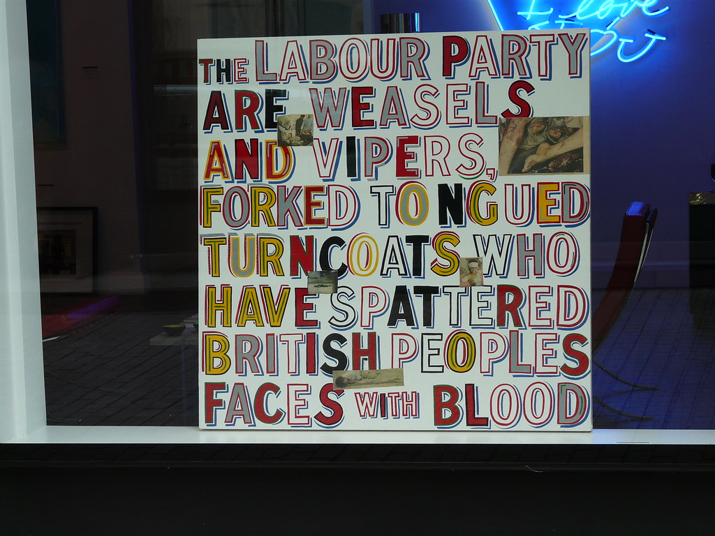 Image result for bob and roberta smith The Labour Party