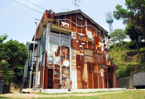 exterior of haisha art house (by Shinro Ohtake), naoshima | by hopemeng