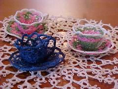 cups on doily | by bikesun2001