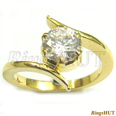 Diamond Gold Ring With Solitaire Ring Ladies Ring Weddin Flickr