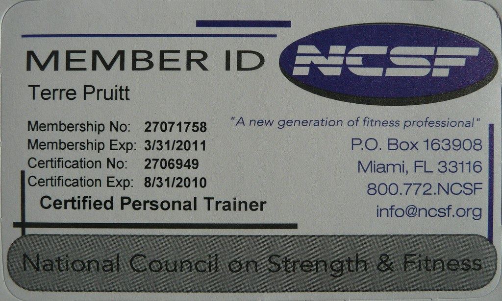 Terre Pruitt NCSF Member Card | Licensed Nia Teacher - Certi… | Flickr