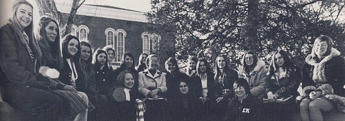 "1974 Panhellenic Council on the ""A"" Bench 