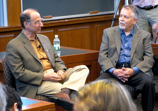 David Weinberger (left) and Doc Searls | by Dan Kennedy's Pix