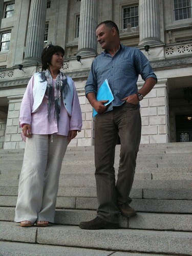 Margaret McGuckin and Bernard Taggart of SAVIA at Parliament Buildings | by survivorsni