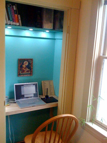 The closet office in use | by Lord Rex