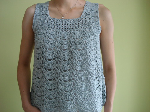 Blue Lacy Top | by Little Purl of the Orient