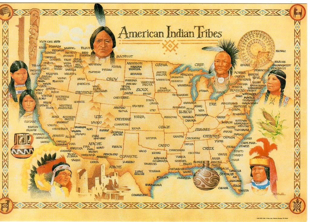 Amazoncom Native American Tribes Map US History Classroom Native
