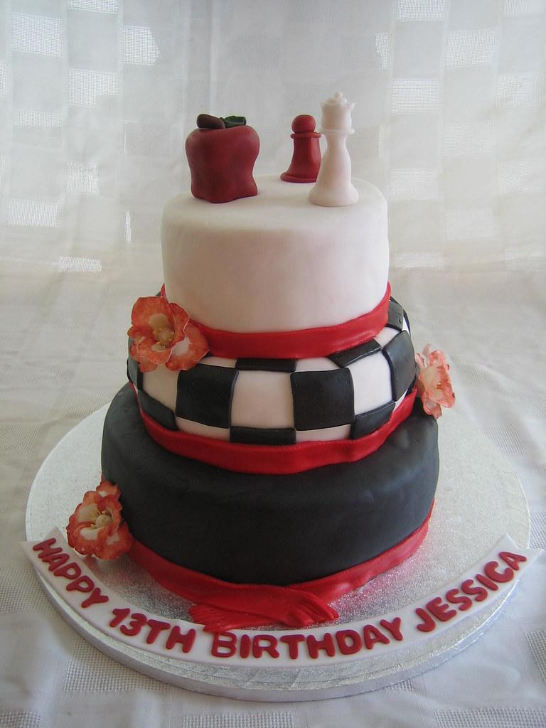 Twilight Birthday Cake Twilight Birthday Cake With Fondant Flickr