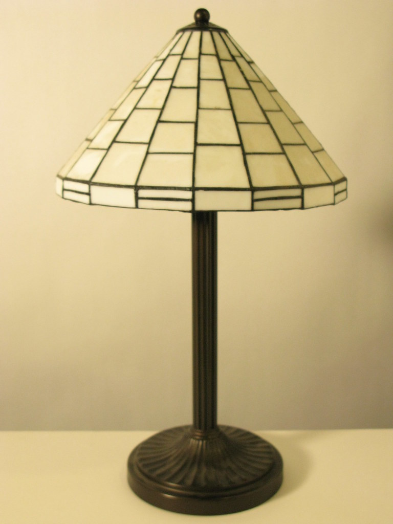 Stained leaded glass lamp shade with antique brass base flickr by shopstudios stained leaded glass lamp shade with antique brass base by shopstudios aloadofball Gallery
