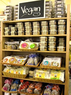 Whole Foods Vegan Shelf | by veganbackpacker