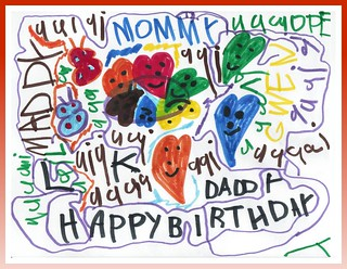 Maddy made daddy a card (age 4) | by Donna & Andrew
