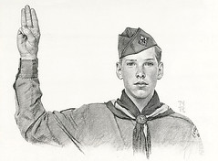 Norman Rockwell -Boy Scout,pledge -pencil   copyright- estat…   Flickr