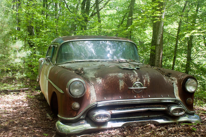 Rusty Old Car In The Woods Steve Smith Flickr