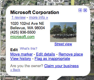 Closing Microsoft on Google Maps | How do you do it? see www