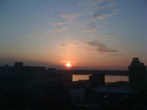 sunset from the top of the peabody - looking out towards the mississippi | by erin_designr