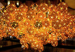Veuve-Cliquot-Chandeliers | by Inhabitat