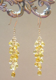 Canary Yellow Sapphire Briolette Earrings ~ Solid 18K Gold ~ Starlite Jewelry Designs | by Naomi King