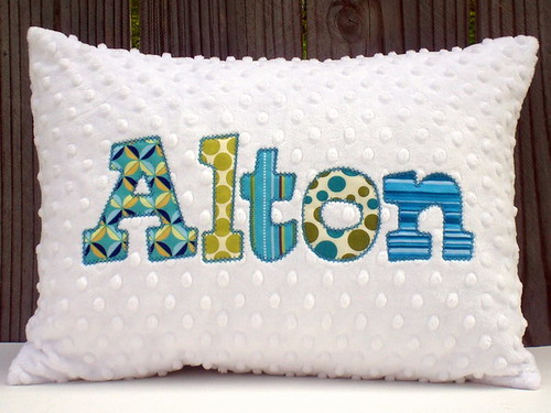 Applique minky chenille pillows ☆sellers please stop copu2026 flickr