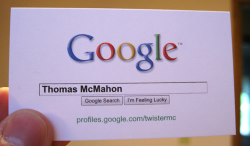 Google business card my google profile business cards that flickr google business card by twistermc google business card by twistermc colourmoves