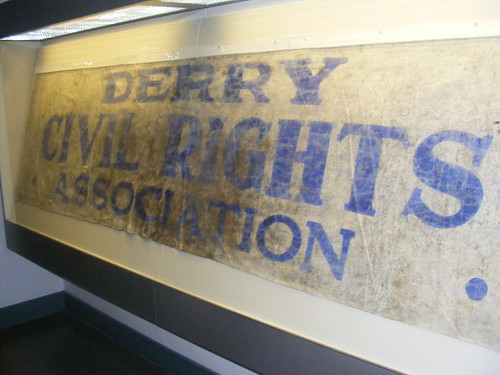 Blood Stained Civil Rights Banner from Bloody Sunday at the Museum of Free Derry | by sean and nina
