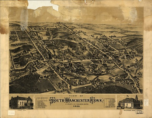 View of South Manchester, Conn. 1880. | by uconnlibrariesmagic