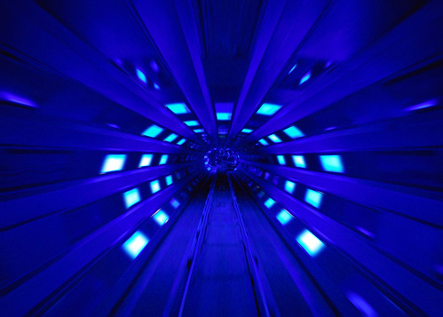 Disney - Space Mountain Blue Space Shot Tunnel (Explored) | by Express Monorail