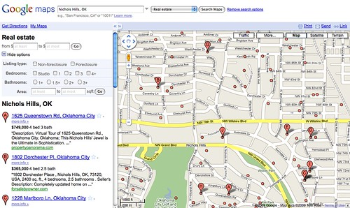 Google Maps Real Estate Listings Search | by TimCohn