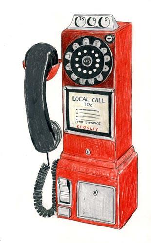 Vintage Phone Drawing