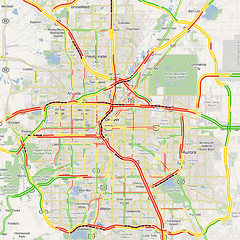 Denver Traffic Map Map of Denver Traffic Conditions | Shawn Campbell | Flickr Denver Traffic Map