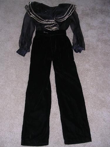 Velvet/Sheer Pant Suit $40   Velvet/Sheer Pants Suit: Dave ...