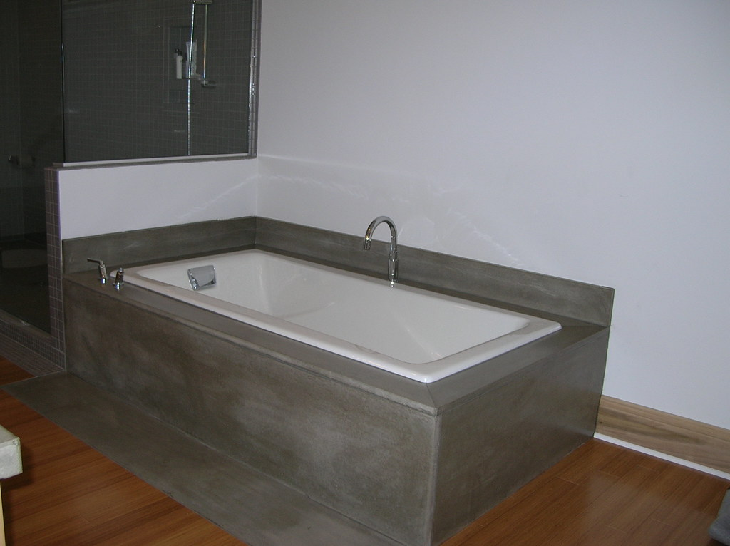 concrete bathtub surround by ck concrete design | Lori Deering | Flickr