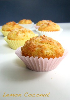 Lemon Coconut Muffins (GF) | by Cakes 'n' Bakes